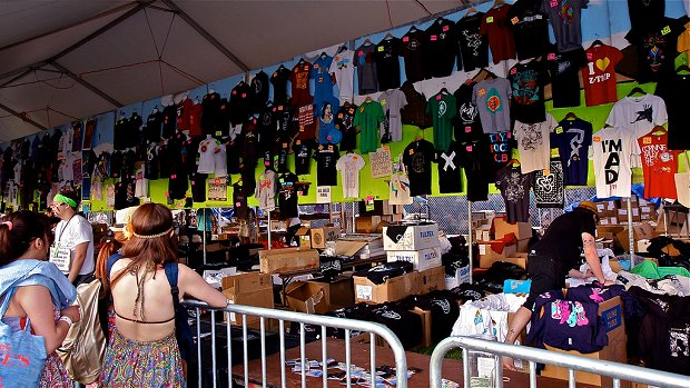 Coachella Merch Booth