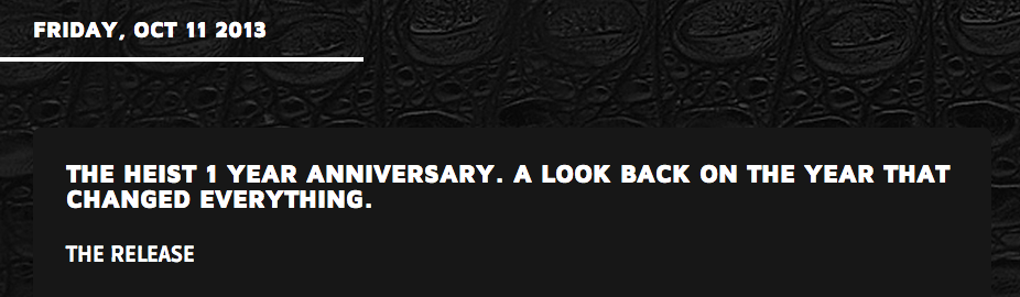 Macklemore's 1 year anniversary look