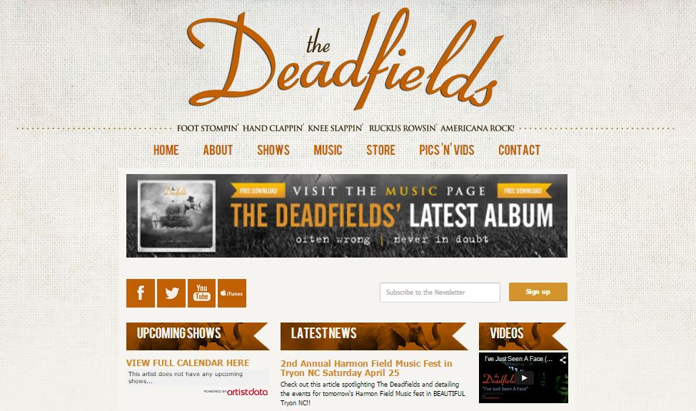 deadfields_bandzoogle_build_website_bands_artists_diy_independent