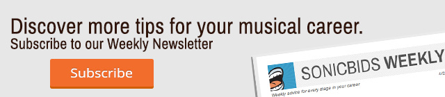 Subscribe to the Sonicbids Newsletter
